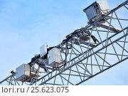 Купить «Автоматизированный комплекс фото- и видеоконтроля скорости», фото № 25623075, снято 27 февраля 2017 г. (c) Александр Тарасенков / Фотобанк Лори