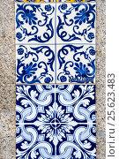 Portuguese traditional tiles Azulejo (2015 год). Стоковое фото, фотограф Юлия Белоусова / Фотобанк Лори