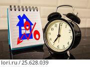 Купить «Символ процента в блокноте на рабочем столе», фото № 25628039, снято 2 февраля 2017 г. (c) Сергеев Валерий / Фотобанк Лори