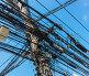 Intertwining of many electrical wires, фото № 25630379, снято 14 февраля 2013 г. (c) Олег Жуков / Фотобанк Лори