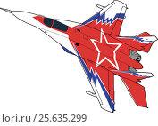 Купить «Russian jet fighter aircraft MiG-29», иллюстрация № 25635299 (c) Илья Малов / Фотобанк Лори