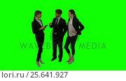 Купить «Businesspeople discussing over digital tablet», видеоролик № 25641927, снято 22 апреля 2019 г. (c) Wavebreak Media / Фотобанк Лори