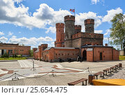 Купить «View of Friedrichsburg gate in Kaliningrad city. Russia», фото № 25654475, снято 17 июля 2015 г. (c) Alexander Tihonovs / Фотобанк Лори
