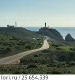 Mountain road leading to the Las Sirenas in the Cabo de Gata-Nijar Natural Park. Spain (2016 год). Стоковое фото, фотограф Alexander Tihonovs / Фотобанк Лори
