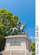 Купить «Конный памятник Яманоути Кадзатоё возле замка Коти, остров Сикоку, Япония», фото № 25664867, снято 19 июля 2016 г. (c) Иван Марчук / Фотобанк Лори