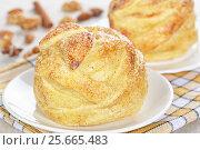 Купить «Яблоки, запеченные в слоеном тесте», фото № 25665483, снято 12 декабря 2015 г. (c) Галина Михалишина / Фотобанк Лори