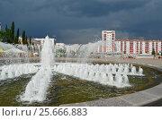 Город Уфа перед дождем (2016 год). Редакционное фото, фотограф Наталья Тагирова / Фотобанк Лори