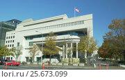 Embassy of Canada Building in USA (2017 год). Стоковое видео, видеограф Igor Vorobyov / Фотобанк Лори