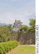Купить «Главная башня (донжон, 16 в.) замка Увадзима, остров Сикоку. Один из 12 сохранившихся замков Японии», фото № 25690451, снято 22 июля 2016 г. (c) Иван Марчук / Фотобанк Лори