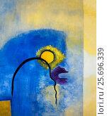 Купить «Painting of Pia Bühler, life thread, acrylic on canvas», фото № 25696339, снято 3 января 2014 г. (c) mauritius images / Фотобанк Лори