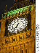 Купить «Big Ben clock tower, Westminster Palace, Palace of Westminster, Houses of Parliament in London», фото № 25697055, снято 4 марта 2014 г. (c) mauritius images / Фотобанк Лори