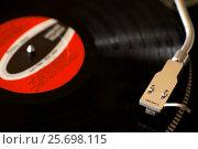 Купить «album,analog,black,circle,classic,disco,dj equipment,hi-fi,instrument,jazz,jockey,label,music,nostalgia,old,plastic,plate,player,pop,record,red,retro,rock...», фото № 25698115, снято 28 января 2017 г. (c) mauritius images / Фотобанк Лори