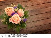 Small bouquet on table. Стоковое фото, фотограф Юлия Младич / Фотобанк Лори