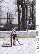 Хоккей во дворе (2017 год). Редакционное фото, фотограф Ivan / Фотобанк Лори