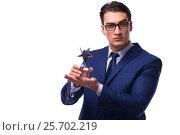 Купить «Businessman with star award isolated on white», фото № 25702219, снято 11 октября 2016 г. (c) Elnur / Фотобанк Лори