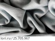 Купить «close up of gray textile or fabric background», фото № 25705967, снято 15 сентября 2016 г. (c) Syda Productions / Фотобанк Лори