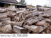 Купить «stack of firewood on farm at country», фото № 25706059, снято 25 августа 2016 г. (c) Syda Productions / Фотобанк Лори