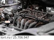 Купить «car engine close up», фото № 25706947, снято 1 июля 2016 г. (c) Syda Productions / Фотобанк Лори