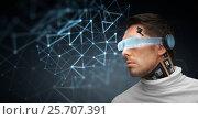Купить «man with futuristic glasses and sensors», фото № 25707391, снято 17 ноября 2012 г. (c) Syda Productions / Фотобанк Лори