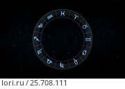 Купить «signs of zodiac over night sky and stars», фото № 25708111, снято 22 июля 2018 г. (c) Syda Productions / Фотобанк Лори