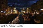 Spasso Blood And Griboyedov Canal In St Petersburg (2017 год). Редакционное видео, видеограф Владимир Ковальчук / Фотобанк Лори