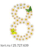 Number eight made of Flowers. Стоковая иллюстрация, иллюстратор Дмитрий Самойленко / Фотобанк Лори