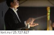 Купить «Ufa, RUSSIA - NOVEMBER 19, 2015: Symphony Orchestra at the Bashkir Theater of Opera and Ballet, Ufa», видеоролик № 25727827, снято 19 ноября 2015 г. (c) Mikhail Erguine / Фотобанк Лори
