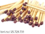 Groupe of match sticks isolated on white background. Стоковое фото, фотограф Koba Samurkasov / Фотобанк Лори
