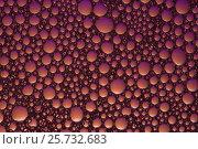 Фон пузырьки фиолетовый-оранжевый. Стоковое фото, фотограф Карташов Евгений / Фотобанк Лори