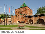 Купить «Дмитриевская башня Нижегородского Кремля», фото № 25733823, снято 11 мая 2016 г. (c) Денис Ларкин / Фотобанк Лори