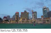 Купить «Sunset Kuala Lumpur at Independence Square motion timelapse», видеоролик № 25735755, снято 16 февраля 2017 г. (c) Кирилл Трифонов / Фотобанк Лори