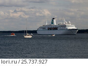 Купить «Eckernfoerde, Germany, MS Germany in Eckernfoerder Bay», фото № 25737927, снято 3 сентября 2016 г. (c) Caro Photoagency / Фотобанк Лори
