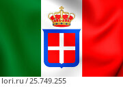Купить «Kingdom of Italy Flag (1861-1946). Close Up.», фото № 25749255, снято 21 октября 2018 г. (c) age Fotostock / Фотобанк Лори