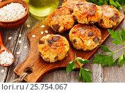 Купить «Овощные котлеты с грибами и овсянкой», фото № 25754067, снято 14 марта 2017 г. (c) Надежда Мишкова / Фотобанк Лори