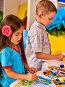 Small students girl and boy painting in art school class., фото № 25755743, снято 4 октября 2015 г. (c) Gennadiy Poznyakov / Фотобанк Лори