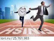 Купить «Businessman failing to meet the challenging deadlines», фото № 25761983, снято 23 июля 2019 г. (c) Elnur / Фотобанк Лори