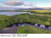 Купить «Aerial view over Insh Marshes National Nature Reserve, Cairngorms National Park, Scotland, UK, May 2016.», фото № 25763247, снято 23 января 2019 г. (c) Nature Picture Library / Фотобанк Лори