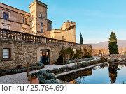 Купить «Medieval Castle of Lourmarin. France», фото № 25764691, снято 2 декабря 2016 г. (c) Alexander Tihonovs / Фотобанк Лори