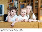 Купить «Трое детей дома», фото № 25765115, снято 26 февраля 2015 г. (c) Охотникова Екатерина *Фототуристы* / Фотобанк Лори