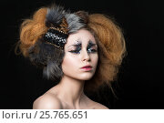 Купить «Beauty portrait of young woman», фото № 25765651, снято 20 декабря 2016 г. (c) Людмила Дутко / Фотобанк Лори