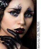 Купить «Beauty portrait of young woman with fashion makeup», фото № 25765791, снято 20 декабря 2016 г. (c) Людмила Дутко / Фотобанк Лори
