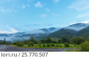 Купить «Evening mist in mountain», фото № 25770507, снято 29 июля 2016 г. (c) Юрий Брыкайло / Фотобанк Лори