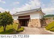 Купить «Реконструированные в 1997 г. главные ворота замка Танабэ (основан в 1579 г.), г. Майдзуру, Япония», фото № 25772859, снято 29 июля 2016 г. (c) Иван Марчук / Фотобанк Лори
