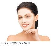 Купить «beautiful young woman with collagen facial mask», фото № 25777543, снято 7 апреля 2012 г. (c) Syda Productions / Фотобанк Лори
