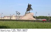 Купить «Памятник Петру I в центре Санкт-Петербурга», видеоролик № 25781907, снято 1 июня 2016 г. (c) Сергей Дубров / Фотобанк Лори