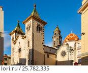 Купить «Приходская церковь святого Фелиу. Город Торельо, провинция Барелолна, Испания», фото № 25782335, снято 27 марта 2015 г. (c) Bala-Kate / Фотобанк Лори