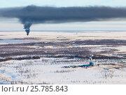 Купить «Месторождение нефти и газа на севере Западной Сибири», фото № 25785843, снято 5 апреля 2016 г. (c) Владимир Мельников / Фотобанк Лори