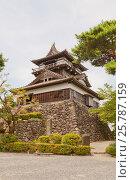 Донжон замка Маруока (1576 г.), г. Сакай. Старейший из всего 12 сохранившихся замков в Японии., фото № 25787159, снято 3 августа 2016 г. (c) Иван Марчук / Фотобанк Лори