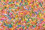 Colored sugar sticks background, фото № 25788783, снято 12 марта 2015 г. (c) Владимир Ковальчук / Фотобанк Лори