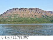 Гора на берегу Собачьего озера, плато Путорана. Стоковое фото, фотограф Сергей Дрозд / Фотобанк Лори